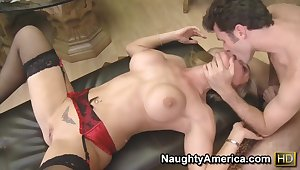 James Deen nails hard big-busted blonde milf Tanya Tate
