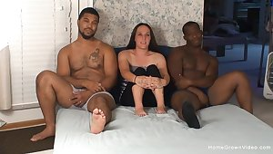 Mature filmed instantly dealing two BBCs in hardcore