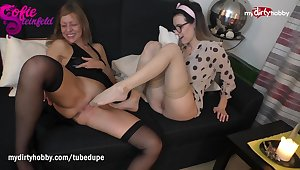 MyDirtyHobby - Milf step mom does lesbian roughly step descendant