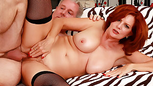 Sultry Of age Redhead Andi James Gets Passionately Drilled