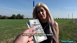 Sexy Blanche Summer agrees to fuck a stranger approximately public for cash