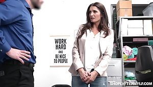 Sexy long haired MILF with utter curves Silvia Saige is brutally fucked by cop