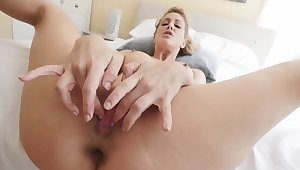 Hot amateur milf and companion's compeer threesome Cherie