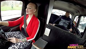Sexy cab driver Kayla Green gets their way pussy fucked crap deep