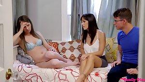 Dirty grown up teaches glum Jillian Janson how to pleasure a dick